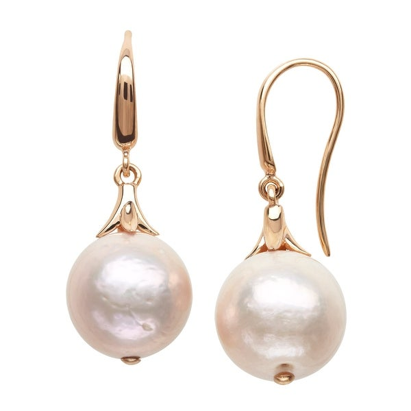 Honora Ming Freshwater Pearl Drop Earrings in 14K Rose Gold - Pink