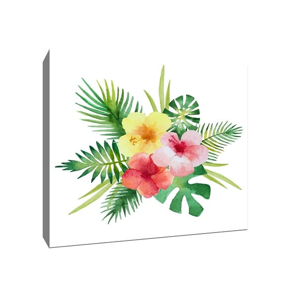 Tropical Bouquet - Tropical Art - 20x20 Gallery Wrapped Canvas Wall Art