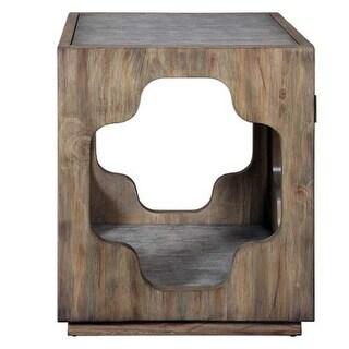 """Uttermost 25906 Kuba 25"""" x 20"""" End Table - walnut stain"""