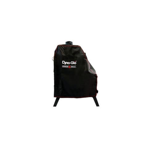 """Dyna-Glo DG1176CSC 35"""" Wide Vertical Offset Charcoal Smoker Cover - Black"""