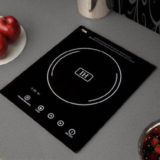 Summit SINC1110 Single Zone Built-In Induction Cooktop with 7 Piece Induction Co