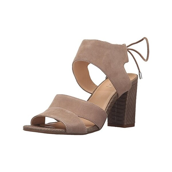 Franco Sarto Womens Gem Dress Sandals Suede Covered Heel