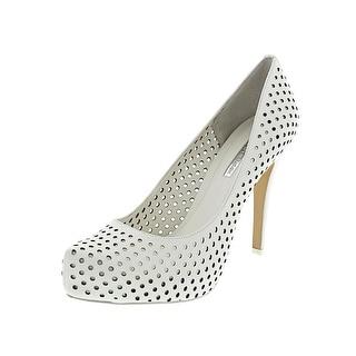 BCBGeneration Polka Women Open Toe Leather White Platform Heel