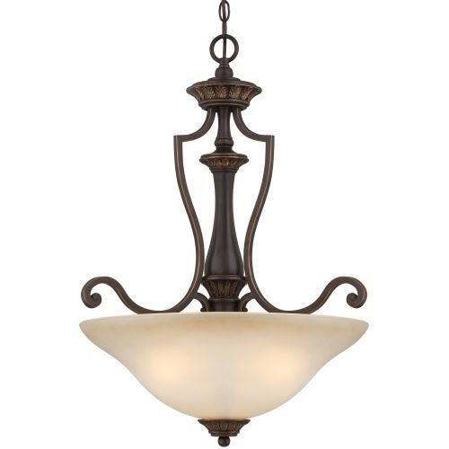 Jeremiah Lighting 28243 Josephine 3 Light Bowl Shaped Indoor Pendant - 22 Inches Wide