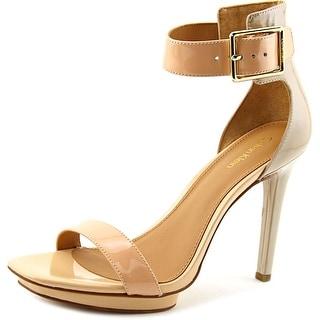 Calvin Klein Vable Women Open Toe Synthetic Nude Sandals