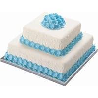 "14"" Silver Square 2/Pkg - Cake Base"