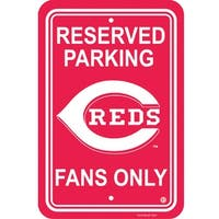 Fremont Die Inc Cincinnati Reds Plastic Parking Sign Parking Sign