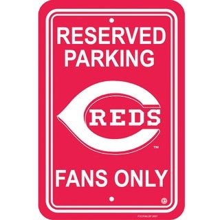 Fremont Die Inc Cincinnati Reds Plastic Parking Sign Parking Sign