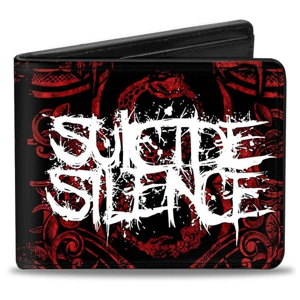 Suicide Silence Splatter Ycsm Logo Close Up Black Red White Bi Fold Wallet - One Size Fits most