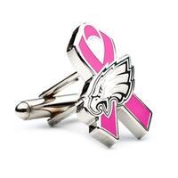 Philadelphia Eagles Breast Cancer Awareness Cufflinks - Pink