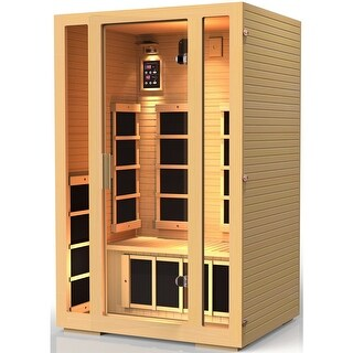 JNH Lifestyles Joyous 2-person Far Infrared Wood Sauna / Model MG215HB