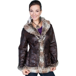Scully Western Jacket Womens Long Sleeve Very Soft Faux Fur 8013