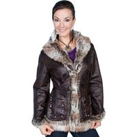 Scully Western Jacket Womens Long Sleeve Very Soft Faux Fur