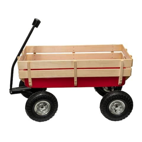 Children's Metal/Wood Side Rail Wagon
