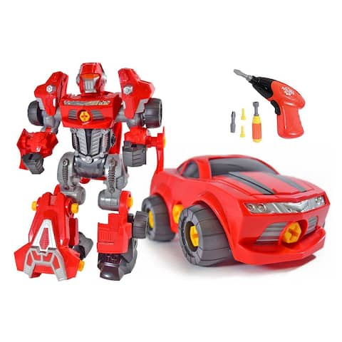 "Kids Toy Robot Sports Car 42 Pieces Drill Screw Driver Play Set - 9'6"" x 13'"