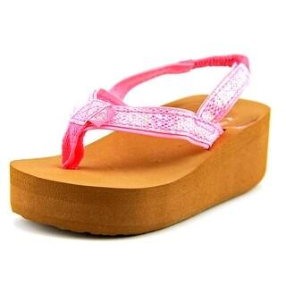 Roxy TW Glitz Open Toe Synthetic Wedge Sandal