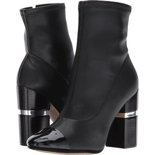 Marc Fisher Womens Prisa 2 Leather Cap Toe Ankle Fashion Boots