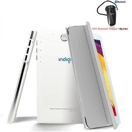 "Indigi® 7"" 3G Unlocked 2-in-1 Android 4.4 SmartPhone & TabletPC w/ Built-in Smart Cover + Bluetooth Included(Grey)"