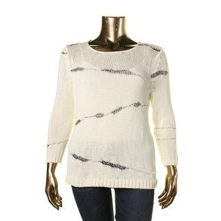 Nic + Zoe Womens Knit Pattern Pullover Sweater - XL