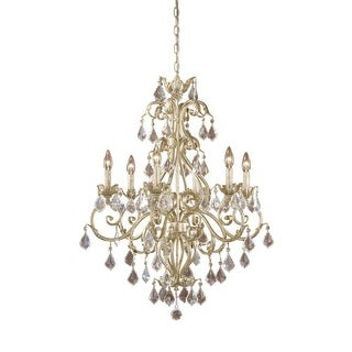 Vaxcel Lighting NC-CHU006 Newcastle 6 Light Single Tier Chandelier - 26.5 Inches Wide