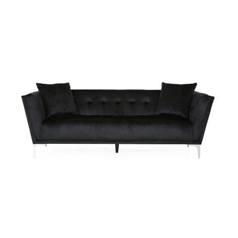 Chopline Modern Glam 3 Seater Velvet Sofa by Christopher Knight Home