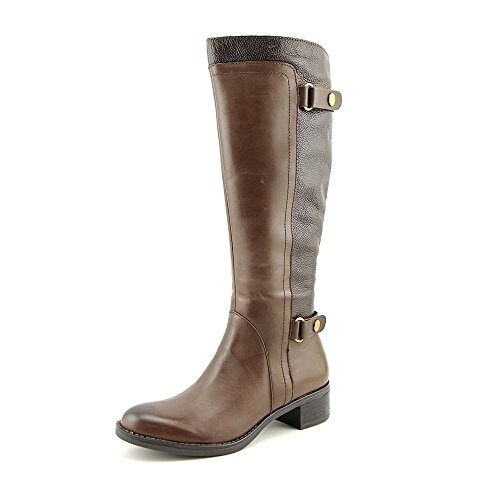 Franco Sarto Womens Crash Leather Almond Toe Mid-Calf Fashion Boots