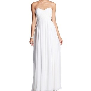 Donna Morgan NEW White Womens Size 4 Ruched Empire Waist Ball Gown