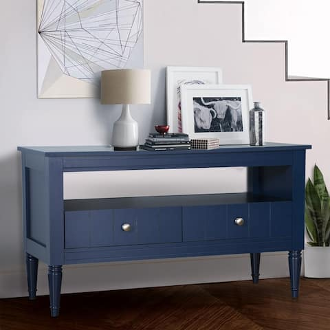"""Modern 40-inch TV Stand Console with Wood Storage Shelf and Drawers - 39.76"""" W x 15.75"""" D x 22.44"""" H"""