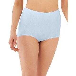 Bali Skimp Skamp Cool Cotton 3 pk - Color - Neutral Bulbs Print/Blue Sky/Nude - Size - 10