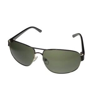 Timberland Mens Sunglass Silver , Metal Aviator Green Lens TB7103 10Q - Medium