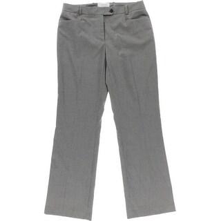 Calvin Klein Womens Petites Houndstooth Modern Fit Dress Pants - 4P