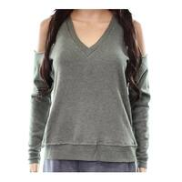 Alternative Women's Cold-Shoulder V-Neck Sweater