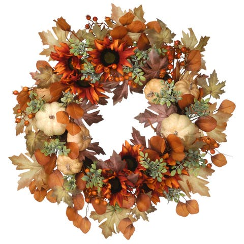 "24"" Autumn Harvest Wreath"