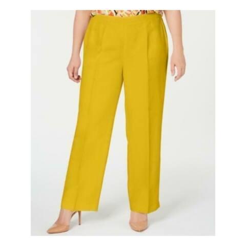 KASPER Womens Yellow Straight leg Wear To Work Pants Size 20W