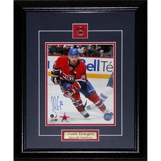 Midway Memorabilia Josh Gorges Montreal Canadiens Signed 8X10 Frame