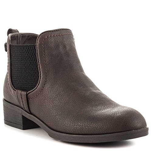 Indigo Rd. Womens Fawne Leather Closed Toe Ankle Motorcycle Boots