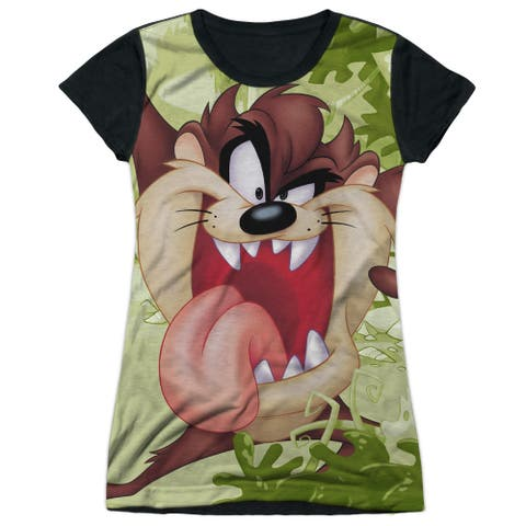 Looney Tunes Taz Juniors Sublimation Shirt with Black Back