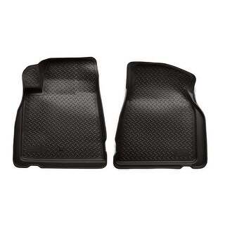 Husky Classic 2007-2016 GMC Acadia 2nd Row Bench/Bucket Black Front Floor Mats/Liners