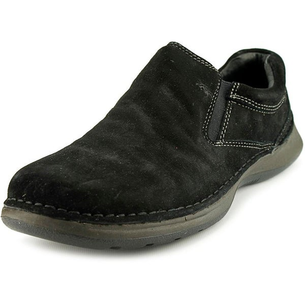 Hush Puppies Lunar II Men Round Toe Suede Black Loafer