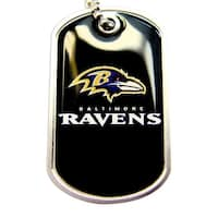 Ravens Dog Tag Necklace Charm Chain