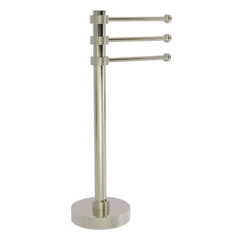 Allied Brass Vanity Top 3 Swing Arm Guest Towel Holder with Groovy Accents