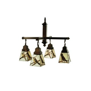 "Meyda Tiffany 69276 26"" W Early Morning Visitors 4 Light Chandelier"