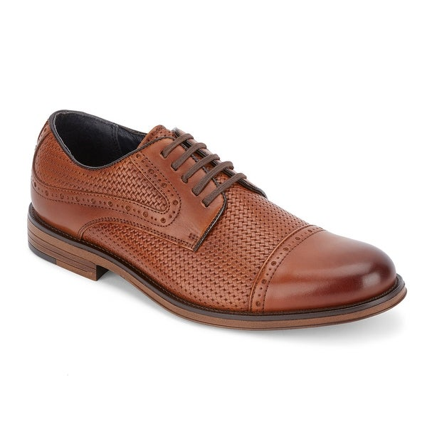 Dockers Mens Mullins Woven Leather Dress Cap Toe Oxford Shoe