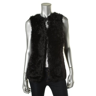 Calvin Klein Womens Faux Fur Casual Sweater Vest - S