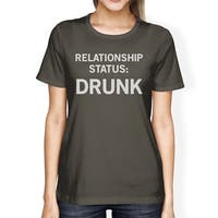 Relationship Status Dark Grey Graphic Tee Cute Design T Shirt
