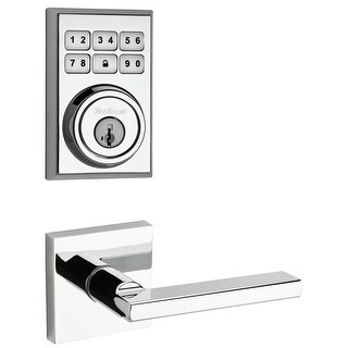 Kwikset 909CNT-HFLSQT-S  SmartCode Electronic Deadbolt with Halifax Lever and Square Rosette