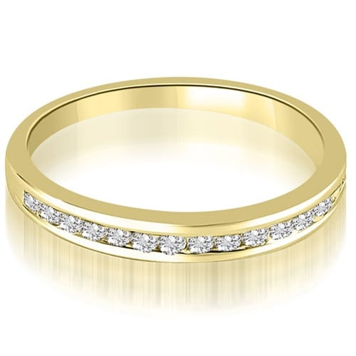 0.35 cttw. 14K Yellow Gold Classic Channel Set Round Cut Diamond Wedding Ring