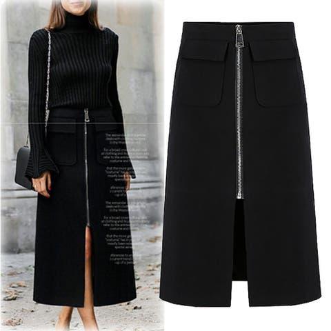 Zipper Pocket Tie Casual Skirt