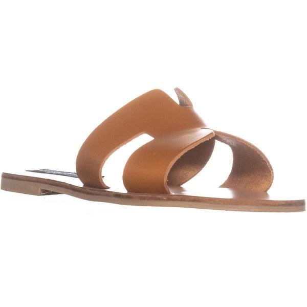 42d6b5619699d STEVEN Steve Madden Greece Flat Sandals, Cognac Leather