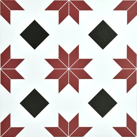 "Brewster FP2482 Orion 12"" x 12"" Square Southwestern Self-Adhesive Vinyl Peel and Stick Floor Tiles"
